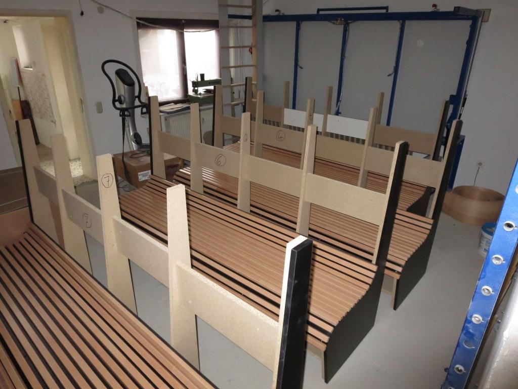 Produktion Sitzbank 4
