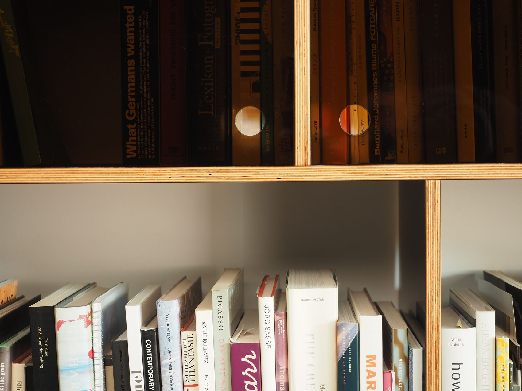 Bücherregal mit Rauchglas vom Möbeltischler in Hamburg - HAMBURGERmöbel